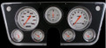 Velocity Series White 1967-72 Chevy Gauges - Classic Instruments - CT67VSW