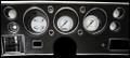 Classic White 1970-72 Chevelle SS / Monte Carlo / El Camino Gauges - Classic Instruments - CV70CW