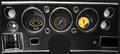 AutoCross Yellow 1970-72 Chevelle SS / Monte Carlo / El Camino Gauges - Classic Instruments - CV70AXY