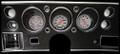 Velocity Series White 1970-72 Chevelle SS / Monte Carlo / El Camino Gauges - Classic Instruments - CV70VSW
