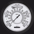 White 1966-77 Ford Bronco Gauges - Classic Instruments - FB66W
