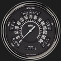 Black 1949-50 Ford Shoebox Gauges - Classic Instruments - FC49B