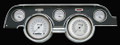 Classic White 1967-68 Mustang Gauges - Standard Bezel - Classic Instruments - MU67CW