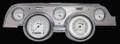 Classic White 1967-68 Mustang Gauges - Aluminum Bezel - Classic Instruments - MU67CWBA
