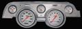 Velocity White 1967-68 Mustang Gauges - Aluminum Bezel - Classic Instruments - MU67VSWBA