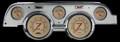 Vintage 1967-68 Mustang Gauges - Aluminum Bezel - Classic Instruments - MU67VTBA