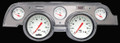 White Hot 1967-68 Mustang Gauges - Aluminum Bezel - Classic Instruments - MU67WHBA