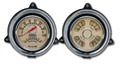 New Vintage Beige Woodward 1954 Chevy PU 2 Gauge Kit - Speed/Tach~Quad - 54373-02