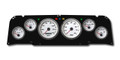 New Vintage White Performance 64-66 Chevy PU 6 Gauge Kit Prog Speedo - 64011-03