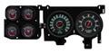 New Vintage Black Woodward Series 73-87 Chevy PU Gauge Kit - 73376-01