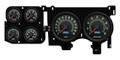 New Vintage Black 69 Series 73-87 Chevy PU Gauge Kit - 73696-01