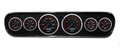 New Vintage Black CFR Red Series 64-66 Mustang Pre-Wired Gauges w/Bezel - 20708-01