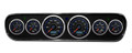 New Vintage Black CFR Blue Series 64-66 Mustang Pre-Wired Gauges w/Bezel - 20708-05