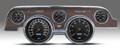 New Vintage BK Woodgrain Perf II Series 67-68 Mustang Pre-Wired Gauge 02717-01