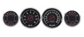 New Vintage Black 67 Series 69-70 Mustang Gauges - 67408-01