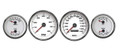 New Vintage White Performance Series 69-70 Mustang Gauges - 01408-03