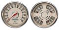 """New Vintage Beige Woodward Series 2 Gauge Kits ~ 4-3/8"""" - 37205-02"""