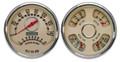 """New Vintage Beige Woodward Series 2 Gauge Kits - Speedo/Tach/Quad ~ 4-3/8"""" - 37215-02"""
