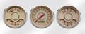 "New Vintage Beige Woodward Series 3 Gauge Kits - Speedo/Duals ~ 3-3/8"" - 37335-02"