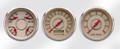 """New Vintage Beige Woodward Series 3 Gauge Kits - Speedo/Tach/Quad ~ 3-3/8"""" - 37336-02"""