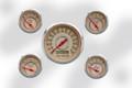 """New Vintage Beige Woodward Series 5 Gauge Kits ~ 3 3/8"""" - 2 1/16"""" - 37504-02"""