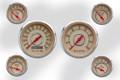 """New Vintage Beige Woodward Series 6 Gauge Kits ~ 3 3/8"""" - 2 1/16"""" - 37604-02"""