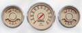 "New Vintage Beige Woodward 3 Gauge Mix Kit ~ 3 3/8"" - 4 3/8"" Speedo/Combo- 37331-02"
