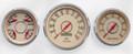 "New Vintage Beige Woodward 3 Gauge Mix Kit ~ 3 3/8"" - 4 3/8"" Quad/Speed/Tach- 37332-02"