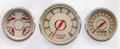 "New Vintage Beige Woodward 3 Gauge Mix Kit ~ 3 3/8"" - 4 3/8"" Quad/Tach/Speed- 37333-02"