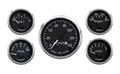 New Vintage Black 1940 Series 5 Gauge Kit ~ Mech Speedo - 40504-01