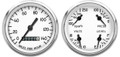 "New Vintage White 1940 Series 2 Gauge Kit ~ 3 3/8"" Mech Speedo - 40204-03"