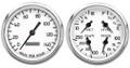 "New Vintage White 1940 Series 2 Gauge Kit ~ 4 3/8"" Prog Speedo - 40205-03"