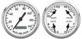 "New Vintage White 1940 Series 2 Gauge Kit ~ 3 3/8"" Prog Speedo - 40214-03"