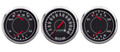 "New Vintage Black 1967 Series 3 Gauge Kit ~ 3 3/8"" Mech Speedo / Duals - 67306-01"