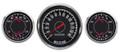 "New Vintage Black 1967 Series 3 Gauge Kit ~ 4 3/8"" Prog Speedo / Duals - 67335-01"