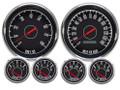 """New Vintage Black 1967 Series 6 Gauge Kit ~ 4 3/8"""" Prog Speedo / 73-10 Fuel Sender - 67658-01"""