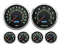 "New Vintage 1969 Series 6 Gauge Kit ~ 4 3/8"" Speedo/Tach - 69659-01"