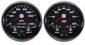 New Vintage Black Performance Series 3in1 2 Gauge Kit ~ 73-10 Fuel - 01255-01