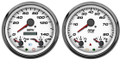 New Vintage White Performance Series 3in1 2 Gauge Kit ~ 73-10 Fuel - 01255-03
