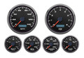 "New Vintage Black Performance II Series 6 Gauge Kit ~ 3 3/8"" Speedo/Tach - 02649-01"