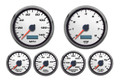 "New Vintage White Performance II Series 6 Gauge Kit ~ 3 3/8"" Speedo/Tach - 02649-03"