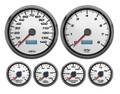 "New Vintage White Performance II Series 6 Gauge Kit ~ 4 3/8"" Speedo/Tach - 02659-03"