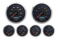 "New Vintage CFR Blueline Series 6 Gauge Kit ~ 3 3/8"" Speedo/Tach - 20649-05"