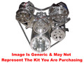 VIPS - Turbo Trac Vintage Drive System - Small Block Chevy - Not Polished w/ AC Hardlines, 140 Amp Alternator & Power Steering