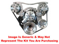 VIPS - Turbo Trac Serpentine Drive System - Small Block Mopar - Not Polished w/ AC Hardline & Power Steering