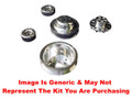 VIPS - Billet Aluminum Serpentine Underdrive Pulley Set - 1988-1995 Chevy/GMC Trucks - Polished
