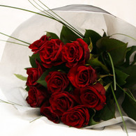 Make your valentine happy with a dozen red opulent roses.