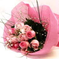 Pretty pink rose bunch