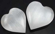 Small White Selenite Heart