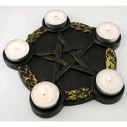 Pentagram Candle Altar Plate